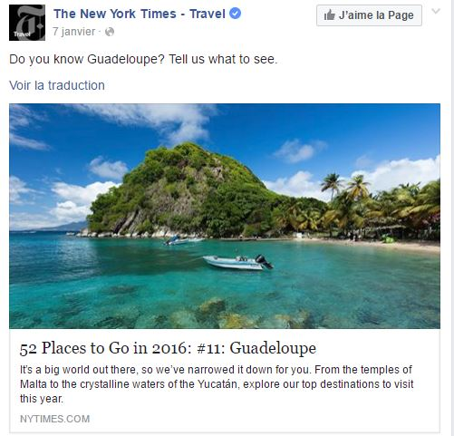 La Guadeloupe : « A place to be » en 2016